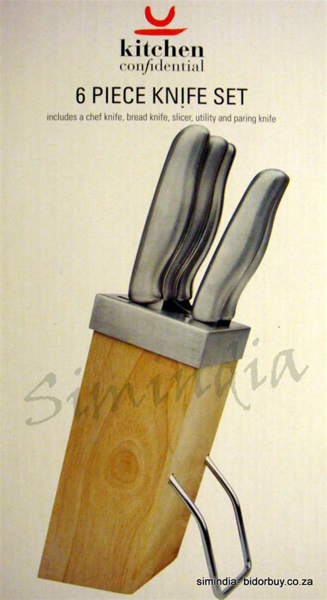 Kitchen Confidential Knife Recommendation Knives Kitchen Confidential 6 Pc Stainless Steel Knife