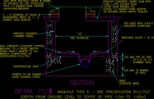 In Wall Toilet Tank Manhole Details In Autocad Drawing Bibliocad