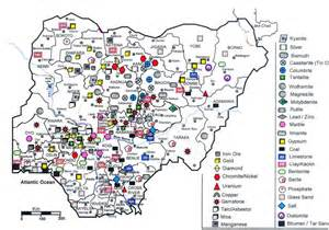 map of nigeria showing solid mineral locations