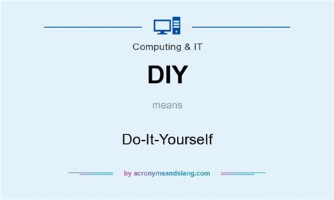 diy mean diy do it yourself in common miscellaneous community