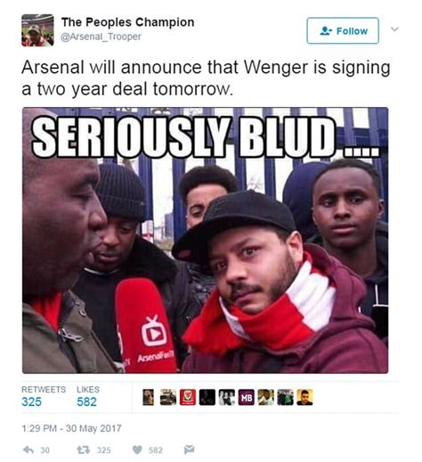 arsenal memes arsene wenger and arsenal memes reacts daily