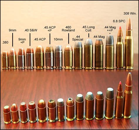 ammo and gun collector popular pistol calibers visual
