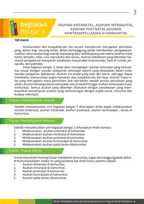Buku Asuhan Kebidanan Pada Ibu Bersalin Rz modul 1 kb 3 asuhan antenatal intranatal postnatal kontrasepsi la