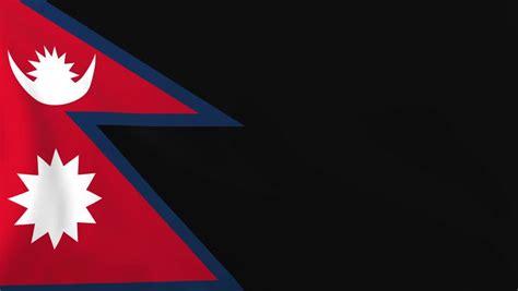 flag  nepal background seamless loop animation stock