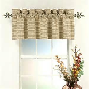 Linen gingham fleetwood straight window valance bedbathhome com