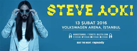 steve aoki volkswagen arena 12 18 şubat istanbul etkinlik rehberi listelist
