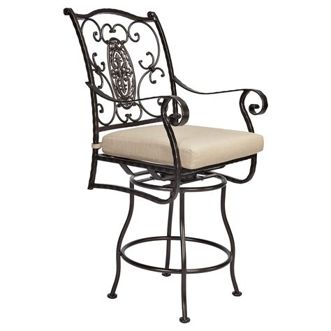 outdoor swivel bar stools with arms san cristobal swivel counter stool with arms hauser s patio