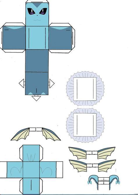 Paper Toys Origami - vaporeon cubeecraft model by klebers pok 233 mons