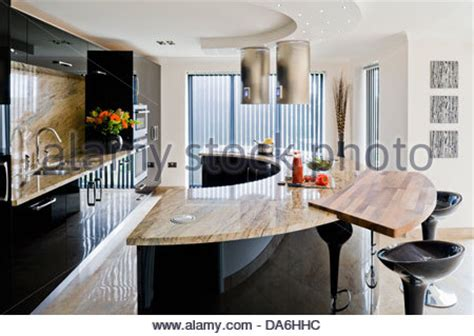 central island unit breakfast bar in modern country style a large kitchen island unit stock photo royalty free