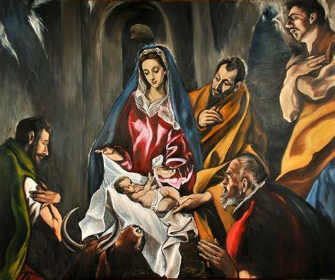 Imagenes Del Nacimiento De Jesus Con Los Pastores | recursos religi 243 n la navidad representada en la pintura