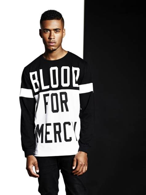 blood for mercy white black longsleeve shirt endource