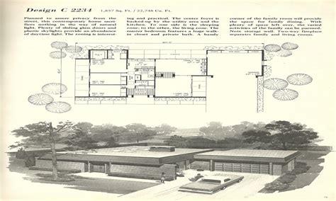mid century modern plans vintage mid century modern house plan vintage mid century
