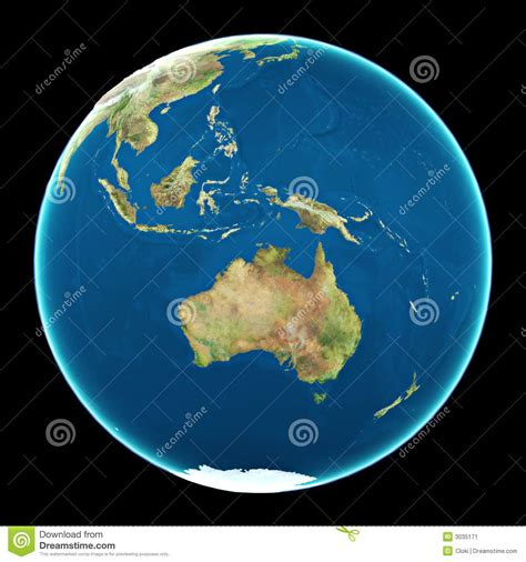 on earth australia on planet earth stock image image 3035171