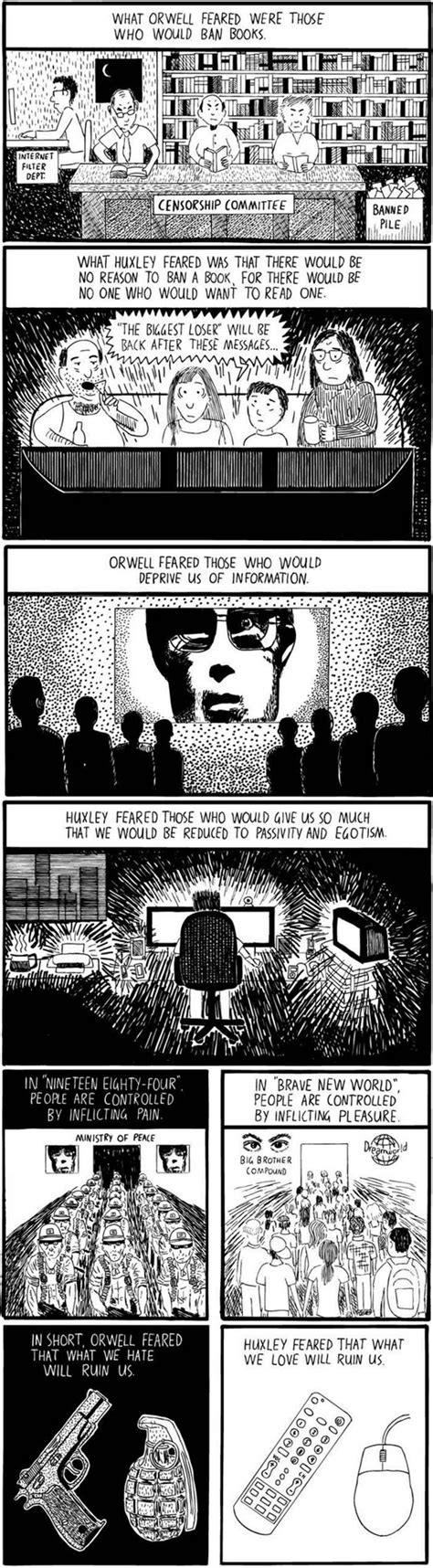 themes of brave new world and 1984 huxley vs orwell the meta picture