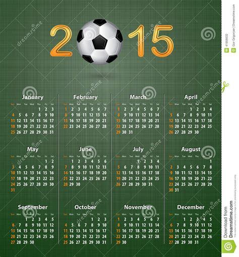 Calendrier Football Calendrier Du Football Pour 2015 Sur La Texture De Toile