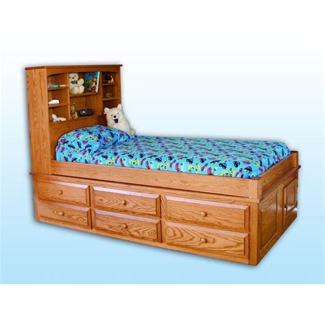 captain bed with storage captain s storage bed amish crafted furniture