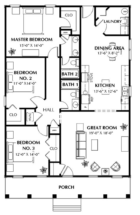house plan three bedroom 301 moved permanently