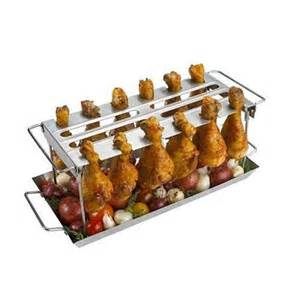 stainless steel chicken wing or drumstick rack for bbq or