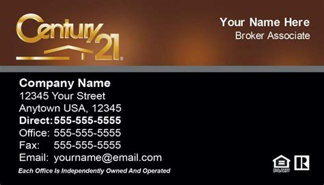 century 21 business card template century 21 real estate century 21 century 21 real