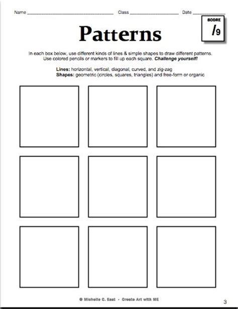 art pattern worksheets high school printable art worksheets for high school 1000 images