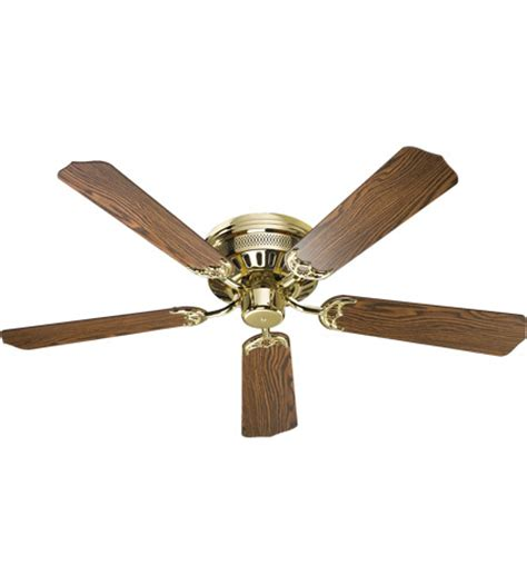 custom ceiling fan blades quorum custom hugger 52 inch polished brass with oak