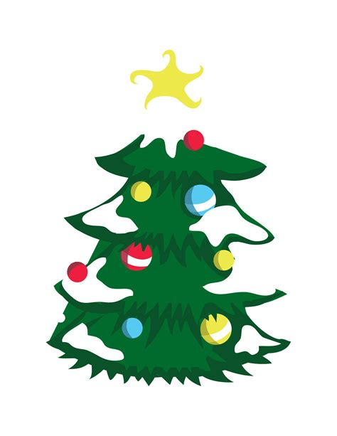 6 best images of christmas tree printable coloring