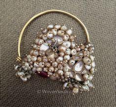 Koko Al Tribal Saladin Black india nose ornament nath gold pearls rock