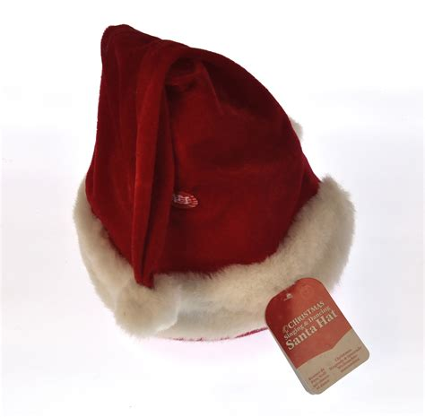 christmas singing and dancing santa hat pink cat shop