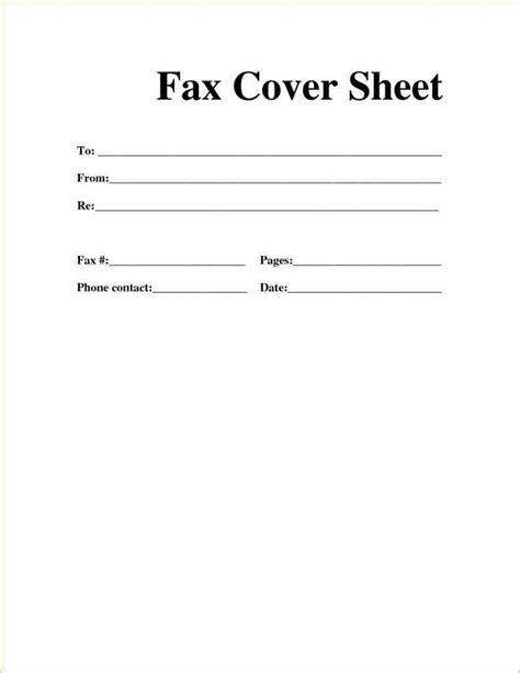 Free Fax Cover Sheet Template Printable Blank Basic Personal Professional Fax Cover Fax Cover Sheet Template Pdf
