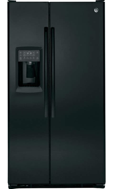 Ge Profile Refrigerator Cabinet Depth by Ge Profile Pzs23kgebb 23 3 Cu Ft Counter Depth Side