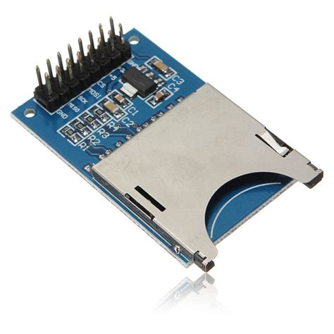 Sd Card For Arduino blue sd card module slot socket reader for arduino arm mcu read write jpg