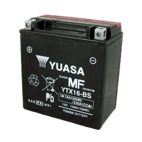 Motorrad Batterie Adapter by Yuasa Motorcycle Battery Ytx16 Bs 12v 14a From County