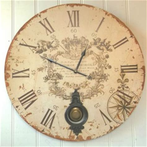 large shabby chic wall clocks large shabby chic wall clock amazing grace interiors