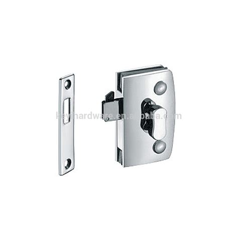 Thumb Turn Door Lock For Double Swinging Glass Door Commercial Glass Door Locks