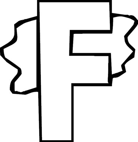 Capital F Coloring Page by Letter F Coloring Pages