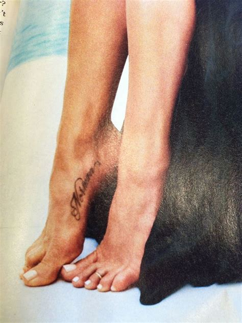 jennifer aniston foot tattoo for her dog norman so sweet