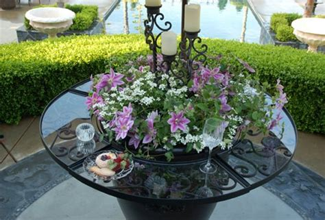 Patio Table Flower Planters by Table Attachment For Garden Pots Landscaping Network