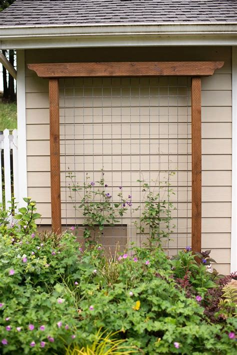 building trellises diy garden trellis out of pressure treated wood and cattle