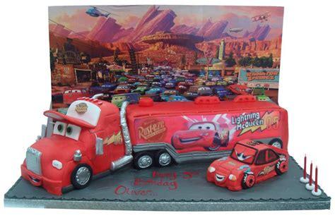 lightning mcqueen truck lightning mcqueen truck car birthday cake