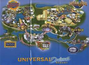 Universal Orlando Resort Map by Florida Sunshine State Travel All Together