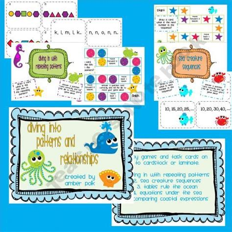 pattern games to play in the classroom numerical expression relationships and number number on