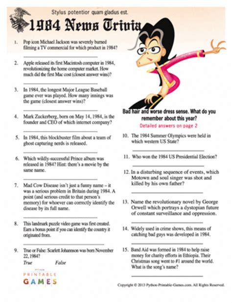 birthday themes quiz 30th birthday party games printable games