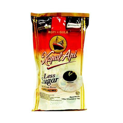 Kapal Api Less Sugar 10 Sachet jual kapal api less sugar kopi bubuk 19 g 10 pcs harga kualitas terjamin blibli