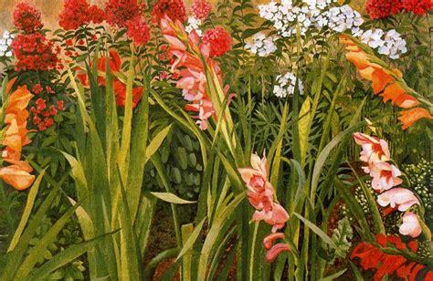 Garden Study 1947 Stanley Spencer Wikiart Org Study Of Flower Colours In The Garden