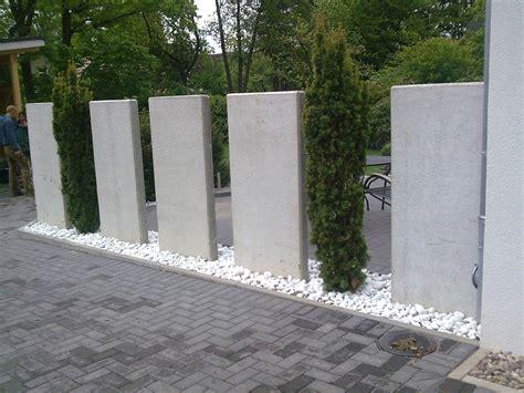 garten sichtschutz frisch sichtschutz mit beton elementen