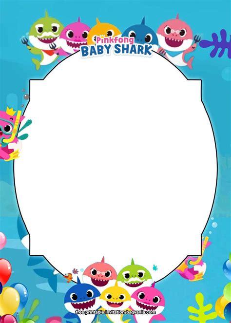 printable baby shark birthday invitation templates