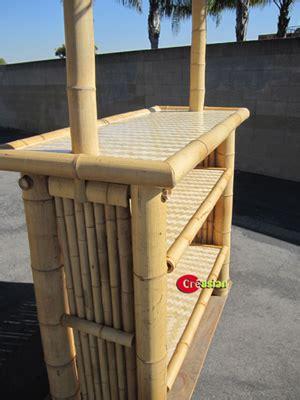 piece bamboo patio tiki bar stool set creasians bamboo