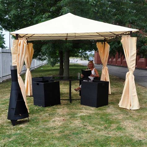 heavy duty gazebo heavy duty garden gazebo with side curtains on sale fast