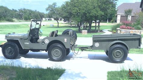 wwii jeep trailer restored military themed willys jeep and bantam trailer