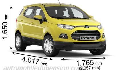 dimensions ford ecosport 2016, coffre et intérieur